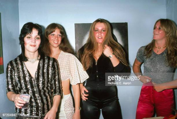 The Runaways posed backstage at CBGB's club in New York on August 02 1976 LR Joan Jett Jackie Fox Lita Ford Sandy West