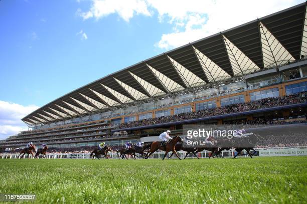 The runners and riders in the Jersey Stakes on day five of Royal Ascot at Ascot Racecourse on June 22 2019 in Ascot England