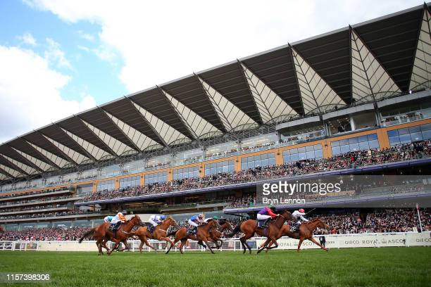 The runners and riders in the Sandringham Stakes on day four of Royal Ascot at Ascot Racecourse on June 21, 2019 in Ascot, England.