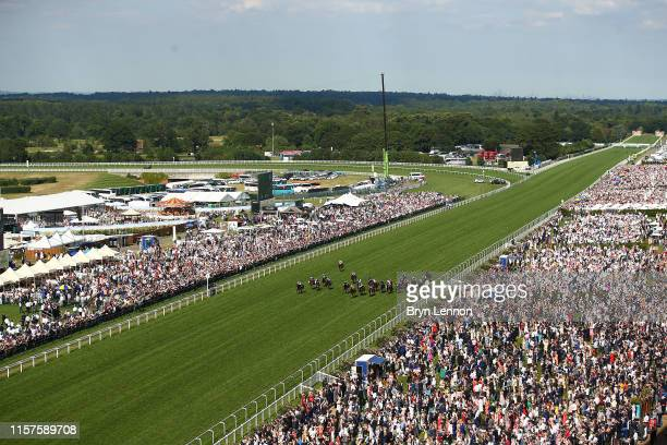 The runners and riders in The Wokingham Stakes on day five of Royal Ascot at Ascot Racecourse on June 22 2019 in Ascot England