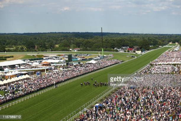 The runners and riders in The Wokingham Stakes on day five of Royal Ascot at Ascot Racecourse on June 22, 2019 in Ascot, England.
