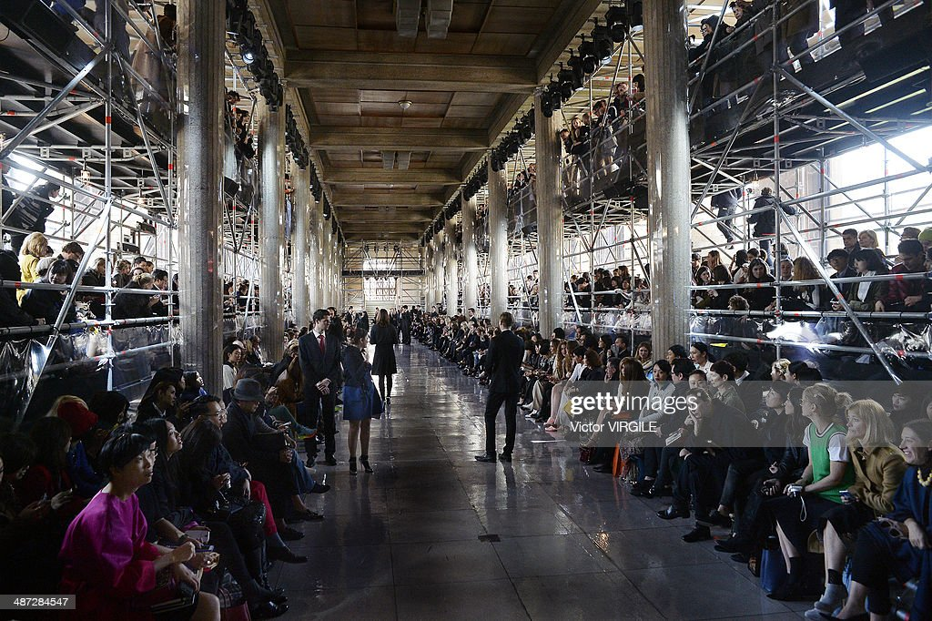 The runway during the Miu Miu show as part of the Paris Fashion Week Womenswear Fall/Winter 2014-2015 on March 5, 2014 in Paris, France.