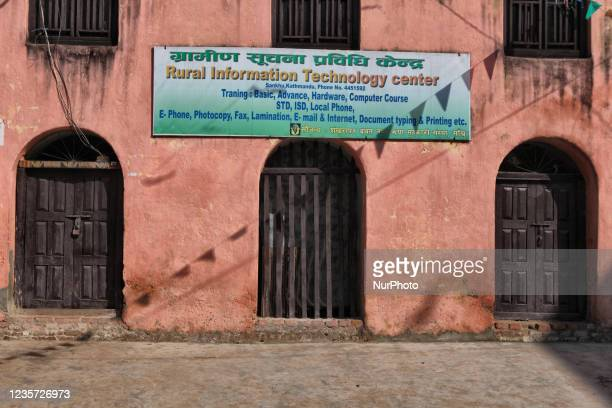 The rural information technology center in the Sankhu Village in Nepal, on December 12, 2011. Modernity has begun to creep into many of the remote...