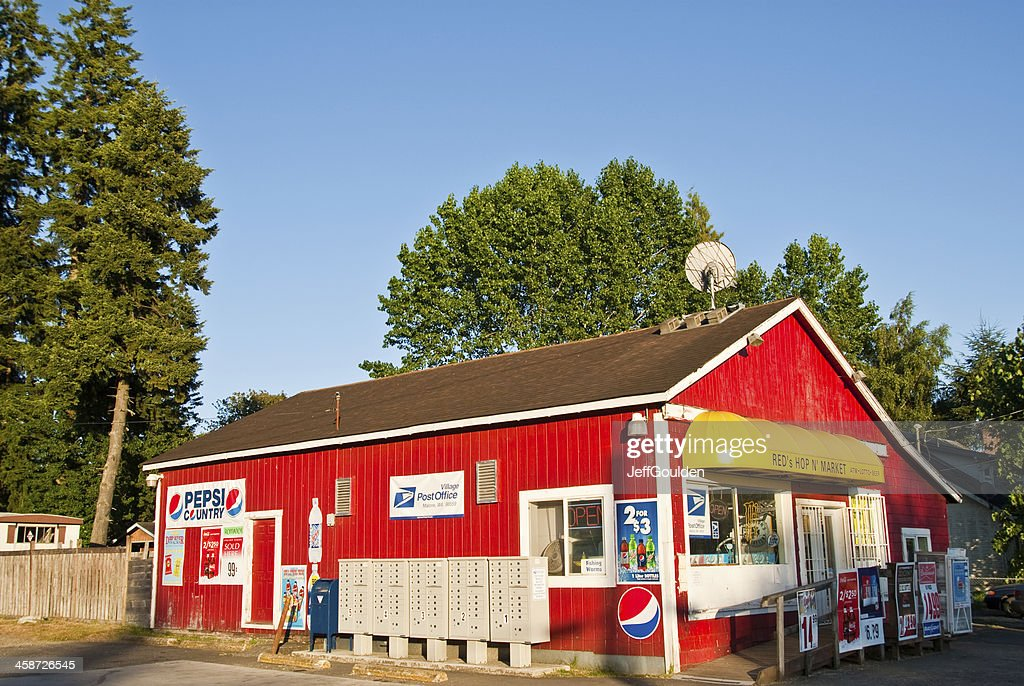 First Village Post Office in the USA : Stock Photo