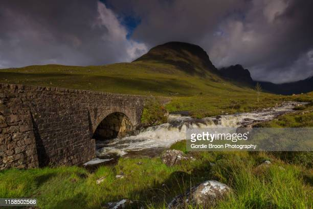 the russel burn. - wester ross stock pictures, royalty-free photos & images