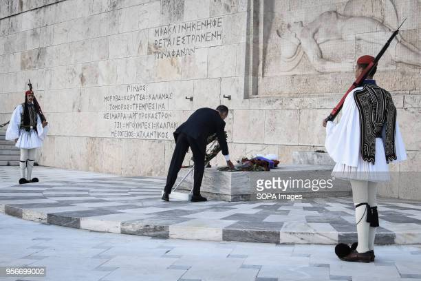 The Russian Ambassador Andrey Maslov at the wreath laying ceremony before The Greek Parliament Thousands of Russian citizens participated in the...