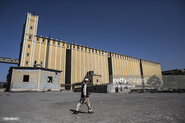 The Russian built grain silo site known as The Silo July 21 2012 in Kabul Afghanistan Built in 1956 the grain silo on site milled 200 tons of grain a...