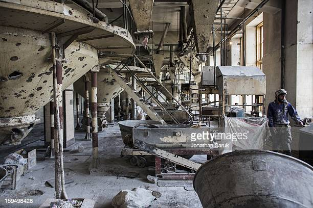 The Russian built massproduction bakery and grain silo site known as The Silo July 21 2012 in Kabul Afghanistan The factory which opened in 1956 and...