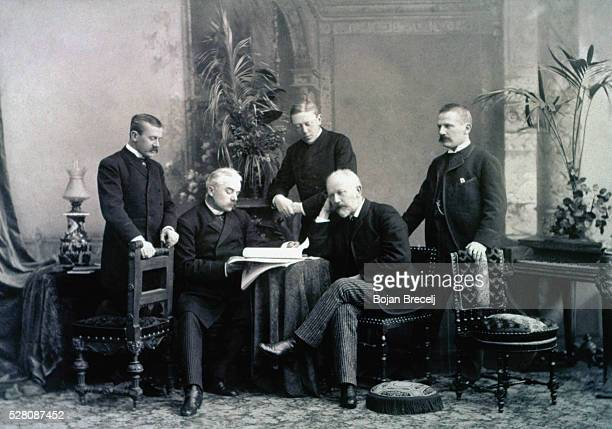 The Russian composer Tchaikovsky with three of his brothers