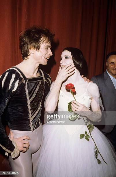 The Russian dancer Rudolf Nureyev with the Italian dancer Carla Fracci Madrid Spain