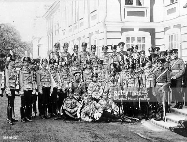 The Russian Grand Duchess Olga as honorary CommanderinChief of the Yelizavetograd Regiment of Hussars at Tsarskoye Cello circa 1914