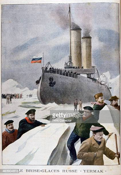 The Russian icebreaker 'Yermak' 1902 Often referred to as the world's first true icebreaker the 'Yermak' was built with a strengthened hull shaped to...