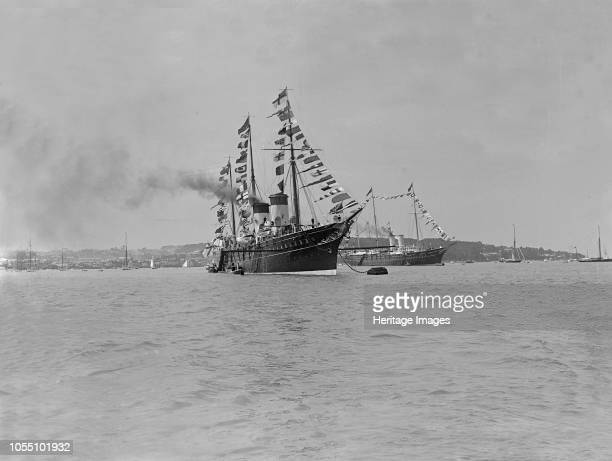The Russian Imperial Yacht 'Standart' at Cowes 1909 'Standart' was built by order of Emperor Alexander III of Russia and constructed at the Danish...