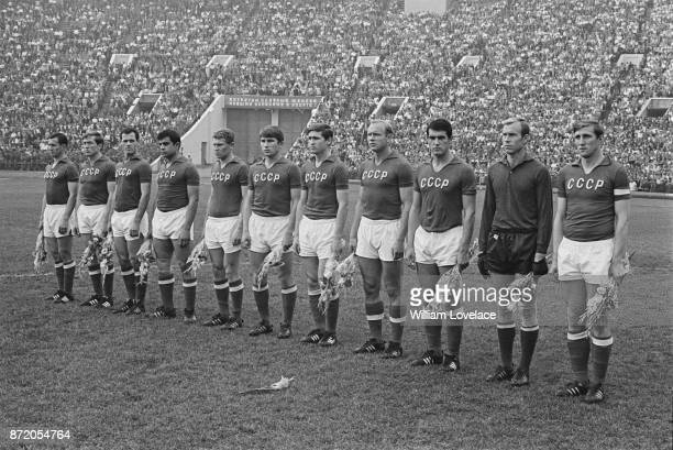 The Russian National team at Luzhniki Stadium former Central Lenin Stadium Moscow 25th August 1967