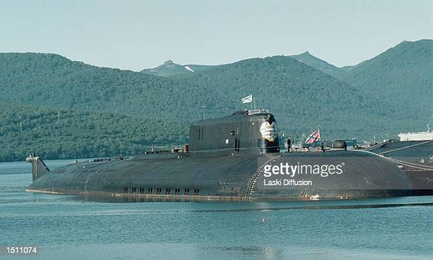 The Russian nuclear submarine Kursk docked at a northern Russian home base port Zapadnaya Lista in Bellona The Russian sub sank August 12 2000 as a...