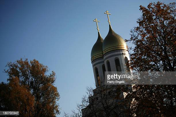 The Russian Orthodox Cathedral of Christ the Saviour on October 28 2011 in Kaliningrad Russia Kaliningrad is one of thirteen proposed host cities and...