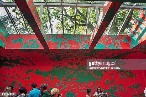 The Russian pavillion at the Giardini Venice Biennale May 2015