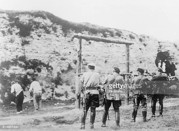 Tsarist Troops Execute Bolsheviks