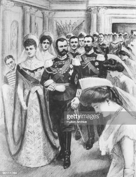 The Russian royal family celebrate the New Year at the Winter Palace in Saint Petersburg 13th January 1903 After attending the Divine Service the...