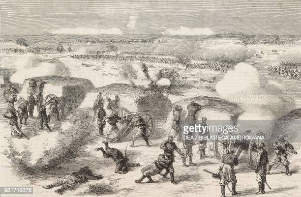 The Russians attacking one of the Turkish entrenchments on the east of Pleven gun battery battle of Pleven or Plevna Bulgaria RussoTurkish War...