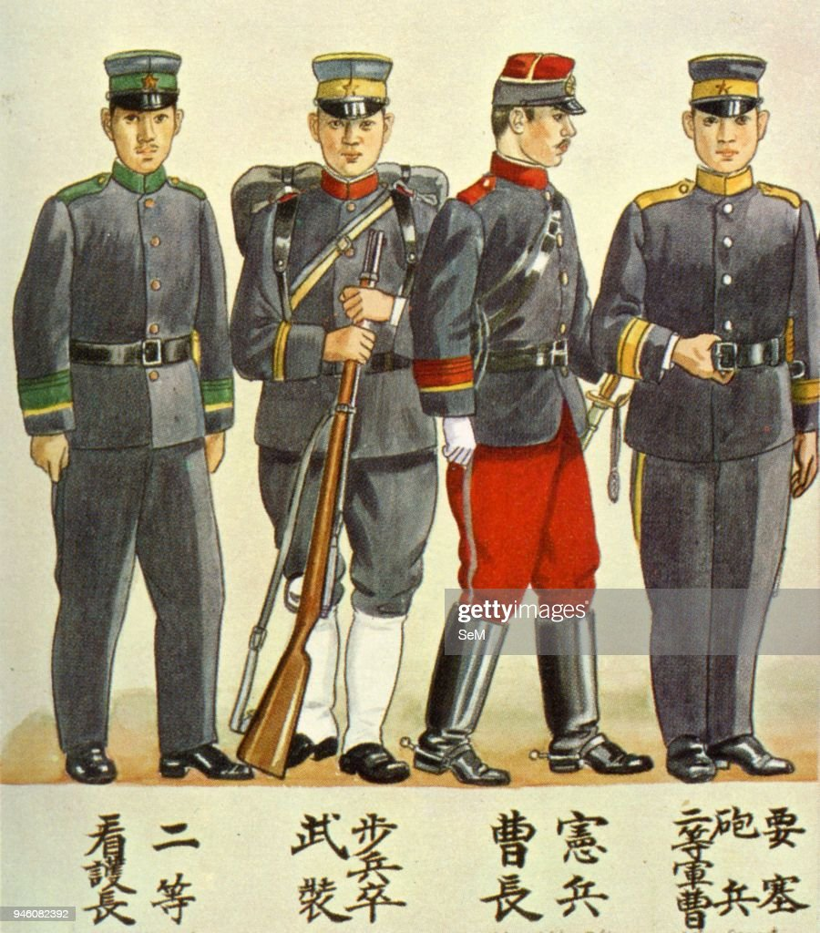 the russo japanese war imperial japanese army uniform of infantry
