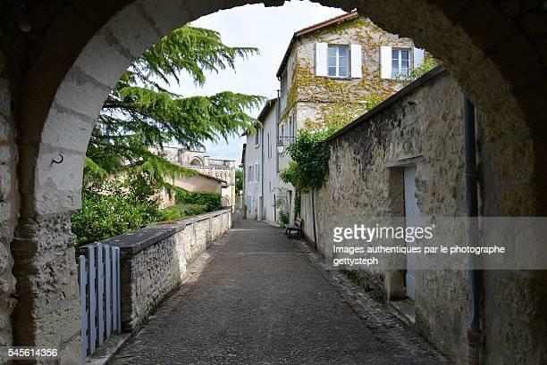 the rustic arche and tranquillity alley - charente stock pictures, royalty-free photos & images