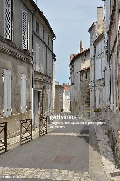 The rustic narrow street