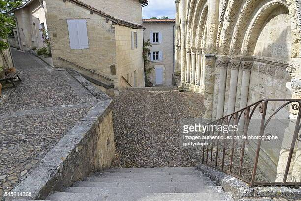 The rustic staircase to access to roman catholic church