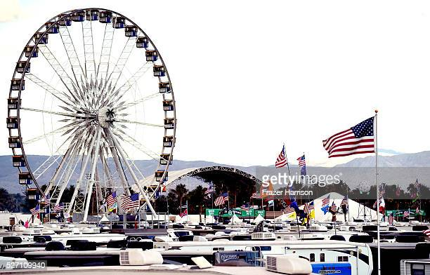 The RV park is seen during 2016 Stagecoach California's Country Music Festival at Empire Polo Club on May 01 2016 in Indio California
