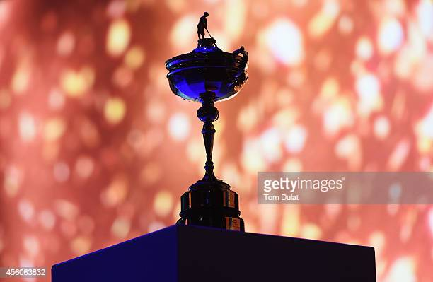 The Ryder Cup trophy on display during the 2014 Ryder Cup Gala Concert at the SSE Hydro on September 24, 2014 in Glasgow, Scotland.