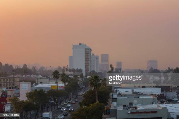The Rye Fire burning North East of Los Angeles slowly moves toward the direction of Sherman Oaks California on 5 December 2017 At this point the fire...