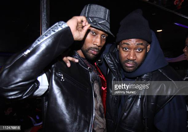 The Rza and Ghostface Killah shoot the Wu Tang 'Nu Wu' music video at The Players Club on March 23 2009 in New York City