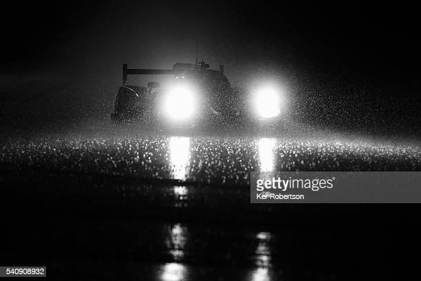 The S024 by Lombard Racing Ligier of Vincent Capillaire Jonathan Coleman and Eric Maris drives in the torrential rain conditions during qualifying...