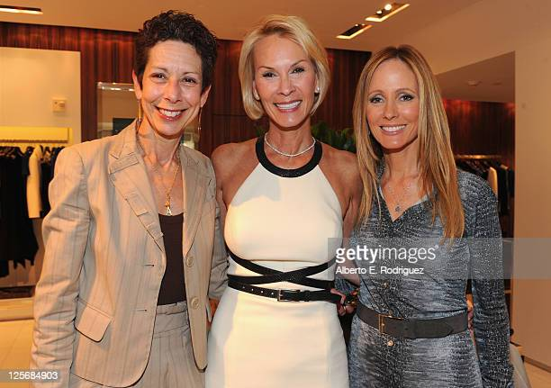 The Saban Free Clinic CEO Abbe Land Philanthropist Cheryl Saban and 20th Century Fox Television Chairman Dana Walden attend a luncheon benefiting the...