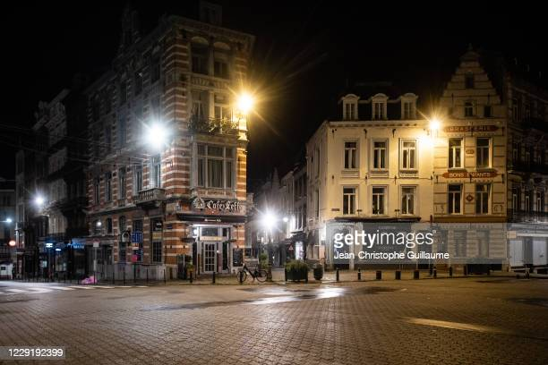 The sablon bars, the Mecca of the Brussels bourgeoisie, remain closed for a period of one month. Brussels on October 20, 2020 in Brussels, Belgium....