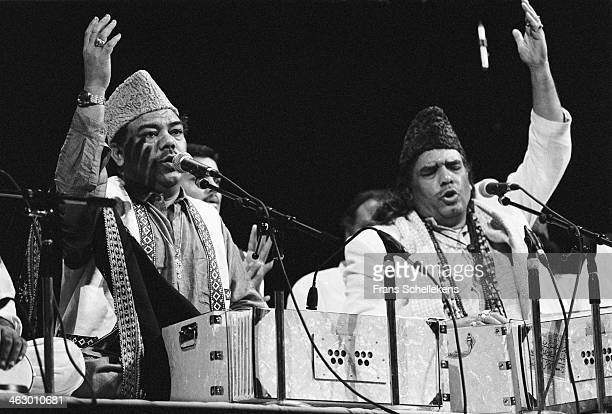 The Sabri Brothers perform during at the KIT on 31st October1990 in Amsterdam, the Netherlands.