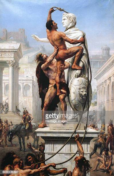 The Sack of Rome by Visigoths 1890 Found in the collection of Musée Paul Valéry Artist Sylvestre JosephNoël