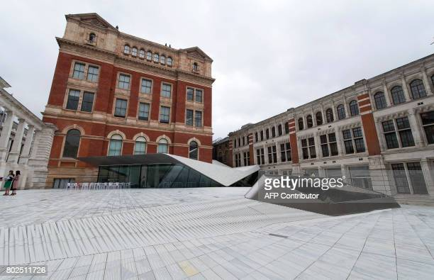 The Sackler Courtyard, a new addition to the Victoria and Albert museum is unveiled to the public in London on June 28, 2017. / AFP PHOTO / Justin...