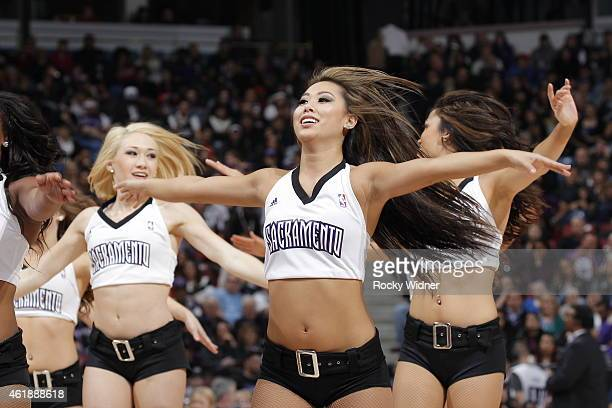 The Sacramento Kings dance team perform during the game against the Miami Heat on January 16 2015 at Sleep Train Arena in Sacramento California NOTE...