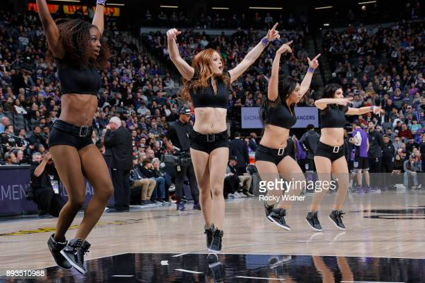The Sacramento Kings dance team performs during the game against the Toronto Raptors on December 10 2017 at Golden 1 Center in Sacramento California...