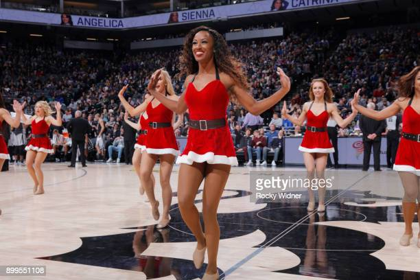 The Sacramento Kings dance team performs during the game against the San Antonio Spurs on December 23 2017 at Golden 1 Center in Sacramento...