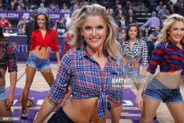 The Sacramento Kings dance team performs during the game against the Utah Jazz on January 17 2018 at Golden 1 Center in Sacramento California NOTE TO...