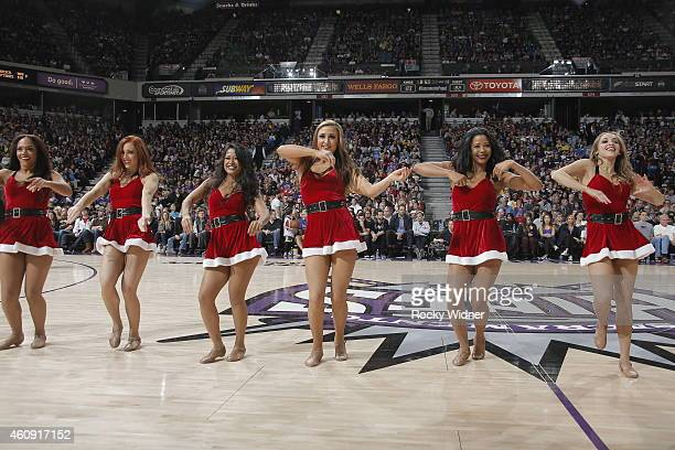 The Sacramento Kings dance team performs during the game between the Los Angeles Lakers and Sacramento Kings on December 21 2014 at Sleep Train Arena...