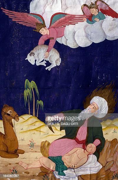 The sacrifice of Isaac Ottoman miniature manuscript Turkey 16th century