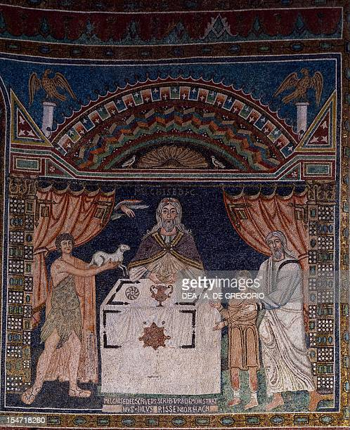 The Sacrifices of Abel Abraham and Melchizedek 673679 mosaic apse Basilica of St Apollinaris in Classe Ravenna EmiliaRomagna Italy 7th century