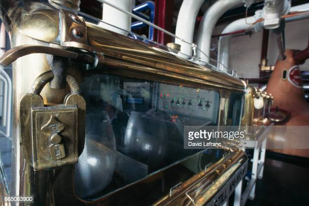 The Safe Spirit Detail of the distillery's safe It functions with the use of a fluxmeter located in the canpit Images and captions taken from the...