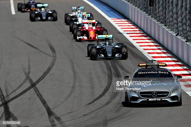 The Safety Car leads the field on track during the Formula One Grand Prix of Russia at Sochi Autodrom on May 1 2016 in Sochi Russia