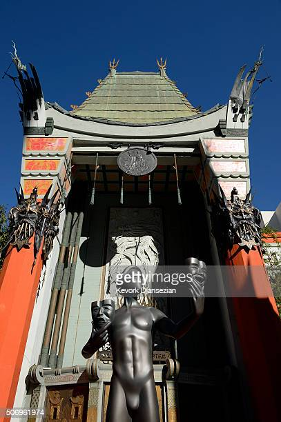 The SAG Awards Actor visits Hollywood's TCL Chinese Theatre in preparation for the 22nd Annual Screen Actors Guild Awards January 26 2016 in Los...
