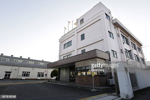 The Sagami Rubber Industries Co head office right and factory stand in Atsugi Kanagawa Prefecture Japan on Thursday Jan 28 2016 Demand for...