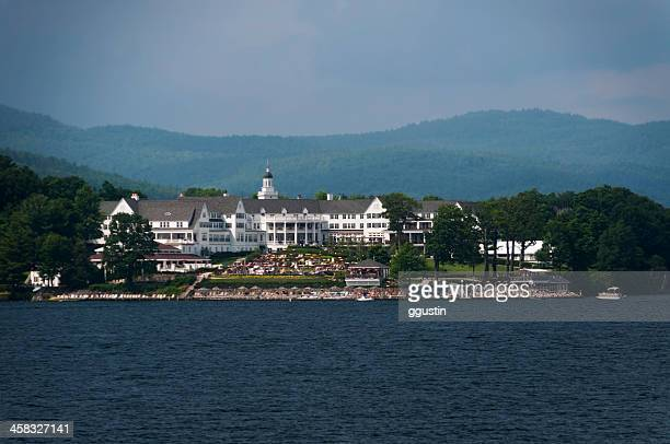 the sagamore on lake george - lake george new york stock pictures, royalty-free photos & images